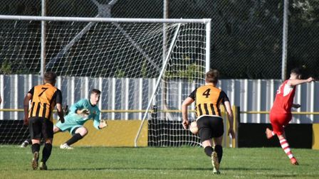 Sam Goodge scored from the spot but it wasn't enough to send Ely City to a win at Stowmarket Town on