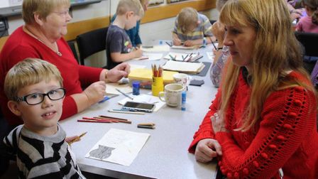 Spooky arts and crafts day at Ely Museum. Photo: Mike Rouse