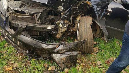 The car in which the 17 year old girl was a front seat passenger when it hit a tree at 60mph in a co