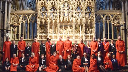 Around 20 girls from across the region visited King's Ely and Ely Cathedral on October 21 for 'Be A