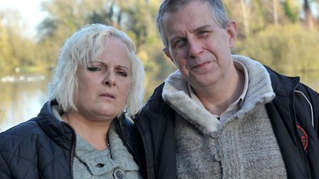 Ruth Neave and her husband Gary: Picture: Steve Williams.