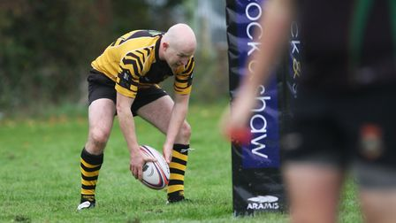 Man-of-the-match Alex Milne touches down in Ely Tigers' 30-10 victory over Newmarket. Photo: Steve W