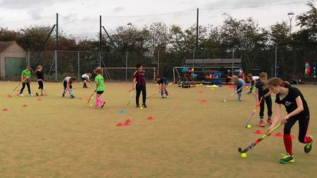 More than 50 youngsters took part in Ely City Hockey Club's half-term hockey camp last week.
