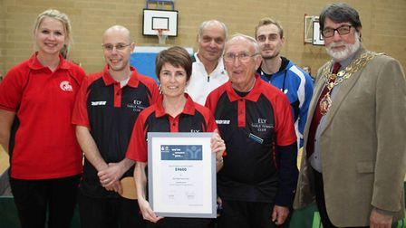 The Ely & District Table tennis Club has a new base at Witchford VC Sports Hall. PHOTO: Mike Rouse