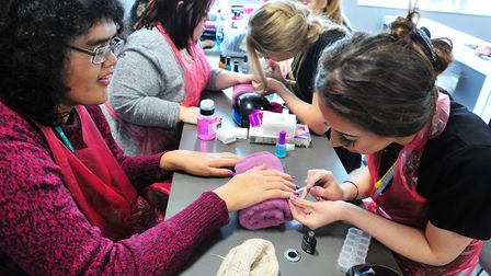 FACET pamper workshop at the College of West Anglia Wisbech campus. PHOTO: Harry Rutter