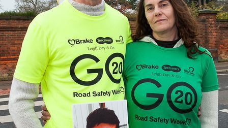 Steve Green and Tina Butcher joined a road safety charity Brake after the death of their son, Jamie,