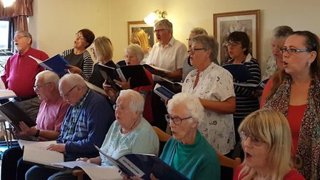 March Can't Sing Choir perform at Swan House in Chatteris