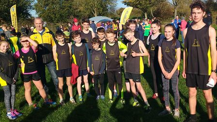 Ely Runners Juniors at the second round of the Frostbite Friendly League in Peterborough.