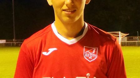 Alex Brown scored the winner in Ely City's 3-2 win over Ipswich Wanderers on Saturday. Photo: Ely Ci