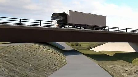 Animation of Ely Southern Bypass proposal