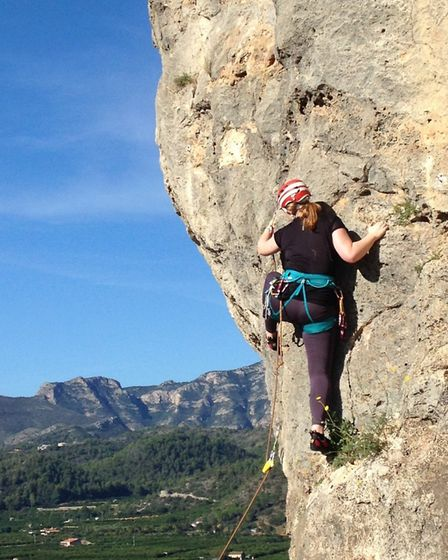 King's Ely students put their climbing skills to the test at the Mediterranean coastline during half