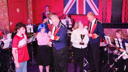 Viva's Brassed Off with Soham Comrades Band. PHOTO: Mike Rouse