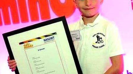 A poem by a seven-year old pupil Matthew Hill from Mepal and Witcham Primary School was been chosen