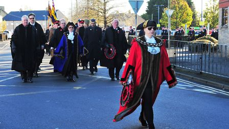 March Remembrance Day 2017 - Mayor Cllr Kim French PHOTO: Harry Rutter