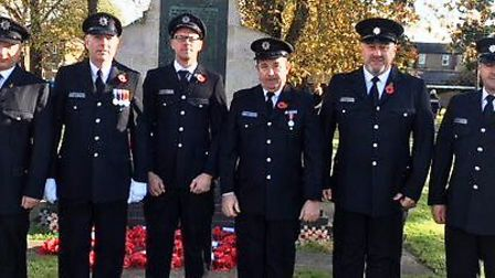 Littleport firefighters on Remembrance Sunday 2017