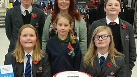 Students at Ely College raised money for the Poppy Appeal and held a two-minute silence on Friday mo