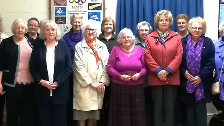Whittlesey Women's Institute holds annual general meeting. Members pictured after the meeting.