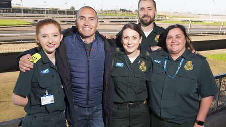 Luke Chapman meets the ambulance crew that saved his life after suffering a cardiac arrest whilst at