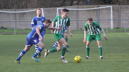 Joe Carden in action for Soham. Photo: Andy Burford