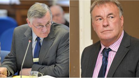 Clash between Cllr Will Sutton (left) and Cllr Dave Connor over a planning application