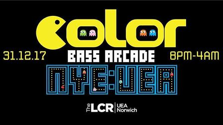 Colour Bass Arcade is the New Year event in Norwich at the UEA