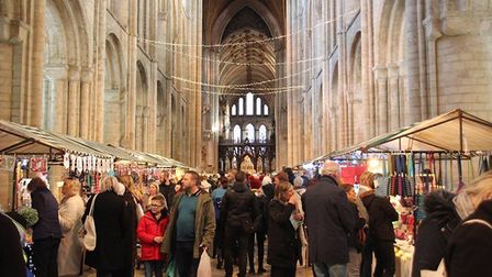 Ely Christmas fair at the cathedral PHOTO: Mike Rouse