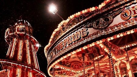 Slide down helter-skelter or ride the merry-go-round at The North Pole attraction in Cambridge