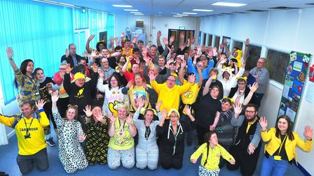 FACET spent this morning perfecting their Pudsey Bears for BBC Children In Need. PHOTO: Harry Rutter