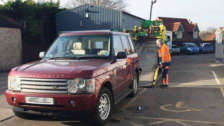 A stolen Range Rover was used in an attempted ram raid at a Burwell service station on Ness Road in