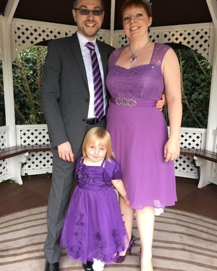 The Bradbrook family. Mike was diagnosed with cancer and spent his last three months at the new purp