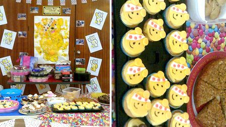 Cavalry Primary School in March raise over £400 for Children In Need with Spotty Cake Sale