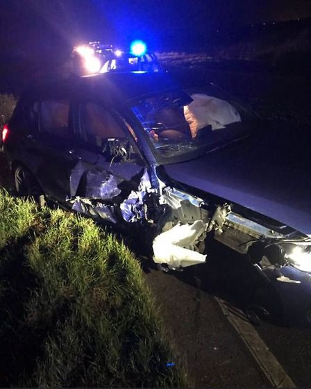 Fenland Police are looking for witneses to a two vehicle collision in Wisbech Road, March. PHOTO: Fe