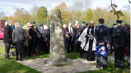 Service of remembrance at R.A.F. Witchford