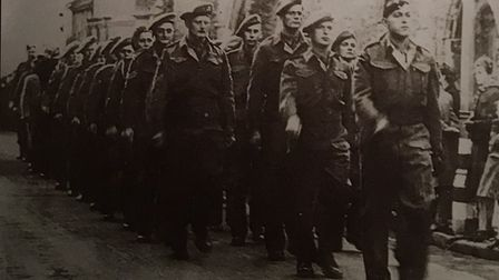 The Cambridgeshire Regiment of 1914-1915 as they prepare themselves for war. PHOTO: Ely Museum