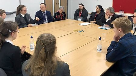 Minister for Children and Families, Robert Goodwill, visited Ely College this morning (November 16)