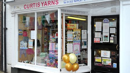 Curtis Yarns on High Street, Ely, is moving Chequer Lane on December 2. Photo: Steve Williams.