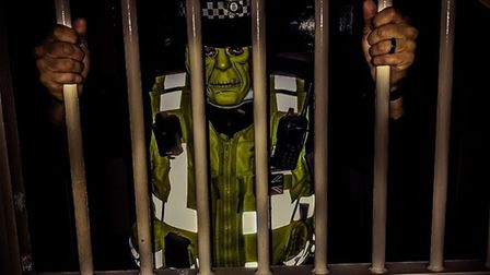 Fen Cops posted these photos on 'PC Frankenstein' on November 1 - but the force's chief constable, A