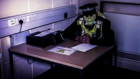 Fenland police also tagged the 'UK Cop humour' account in the photos. Photo: Fen Cops