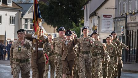 Army Cadets on the march. Picture: SAFFRON PHOTO