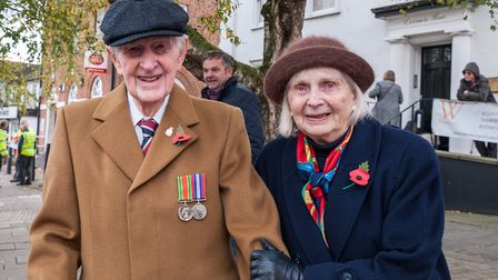 Paying tribute to comrades who served. Picture: SAFFRON PHOTO