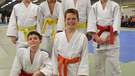 Littleport Judo Club players at the Eastern Area Closed Championship.