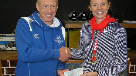 Liz Davies set a new women's course record at the Stebbing 10