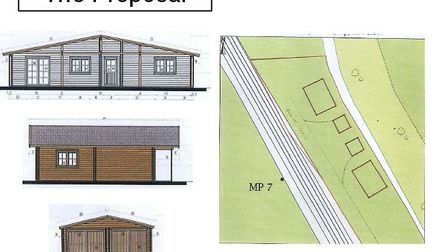 Outline of the design by Robert Negus for his eco lodge proposal for The Butts, Soham