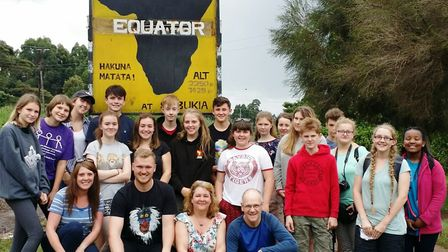 Students from Ely College spent half term in a Kenyan slum working to improve conditions for the chi