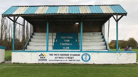 Chatteris Town's stand will now be known as the Mick George stand after the company helped the club