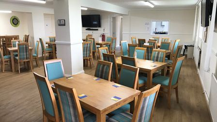 Mick George also installed fire alarms and new furnishings at Chatteris Town's clubhouse.