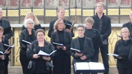 Ely Ribe Association singing with Ely Choral Society in the Lady Chapel of Ely Cathedral.