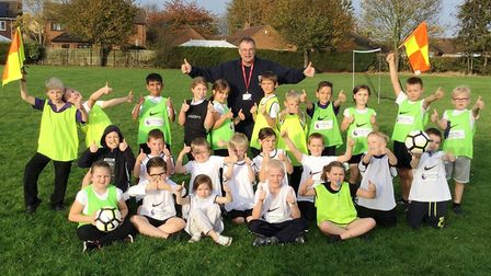 Robert Windle of the Peterborough and Fenland Referee Development Scheme visiting New Road Primary S