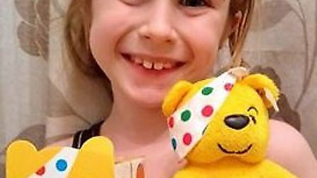 Lydia Port-Burke of Ely makes a Children In Need videoto raise awareness of children with cancer
