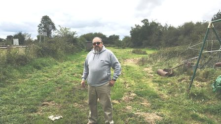Robert Negus on the 1.1 acre he owns opposite his home in The Butts, Soham. He's been refused permis